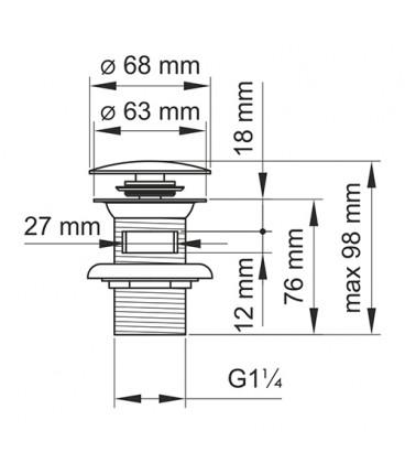 A024 Донный клапан Push-up