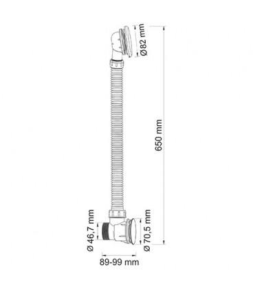 A055 Слив-перелив для ванны
