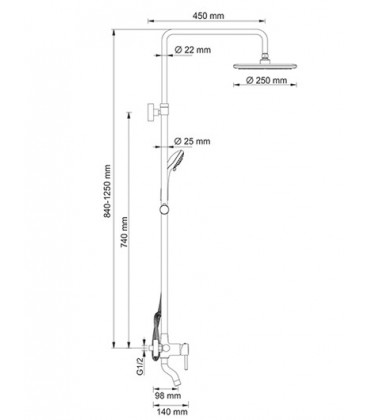 Душевой комплект WasserKRAFT
