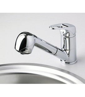 Смеситель для кухни с выдвижной лейкой WasserKRAFT Oder 6365