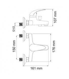 Смеситель для ванны WasserKRAFT Isen