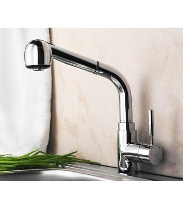 Смеситель для кухни с выдвижной лейкой WasserKRAFT Main
