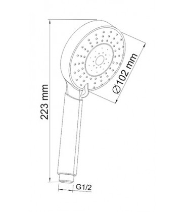 Лейка WasserKRAFT 5-функциональная A032
