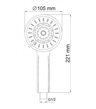 Лейка WasserKRAFT 5-функциональная A033