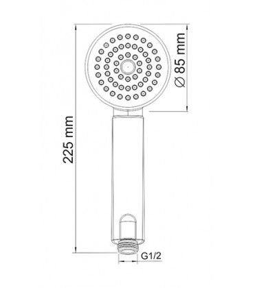 Лейка WasserKRAFT 1-функциональная A034