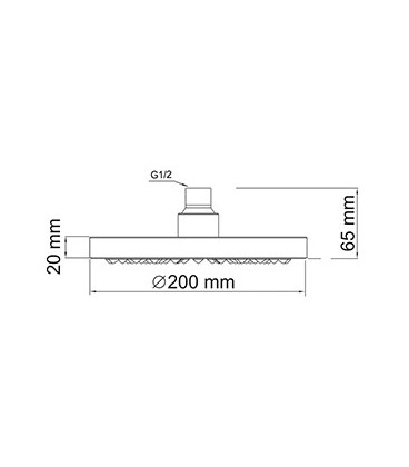 Верхняя душевая насадка WasserKRAFT A020