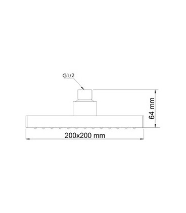 Верхняя душевая насадка WasserKRAFT , A028 черная