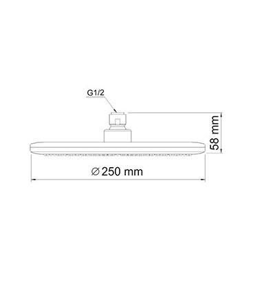 Верхняя душевая насадка WasserKRAFT A030
