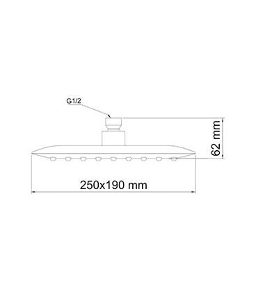 Верхняя душевая насадка WasserKRAFT A031