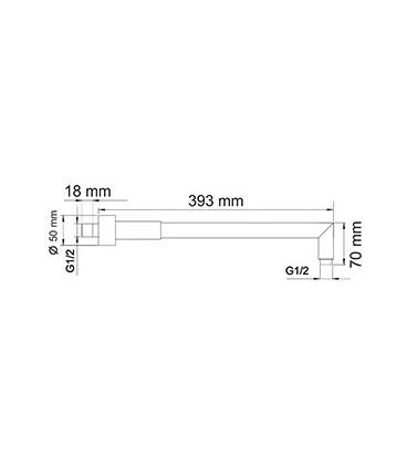 Верхний излив для душа WasserKRAFT A019