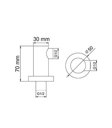 Подключение шланга WasserKRAFT A021