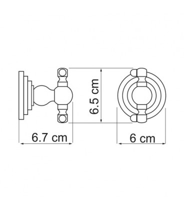 Крючок двойной WasserKRAFT К-7323