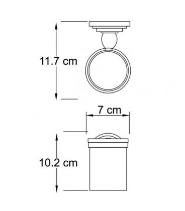 Подстаканник стеклянный WasserKRAFT К-7328