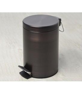Ведро для мусора 5L, с микролифтом WasserKRAFT тёмная бронза К-655