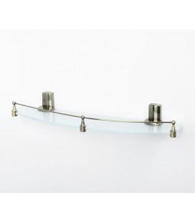 Полка стеклянная WasserKRAFT светлая бронза К-5224