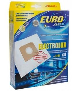 Euro clean E-01/4 оригинальные синтетические мешки-пылесборники 4 шт.