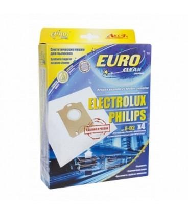 Euro clean E-02/4 оригинальные синтетические мешки-пылесборники 4 шт.