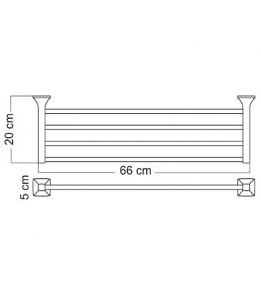 Полка для полотенец WasserKRAFT хром К-2511