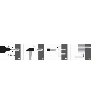 Полка стеклянная WasserKRAFT хром К-6824