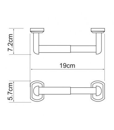 Держатель туалетной бумаги WasserKRAFT хром K-3022