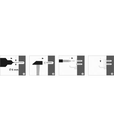 Крючок двойной WasserKRAFT хром K-3023D