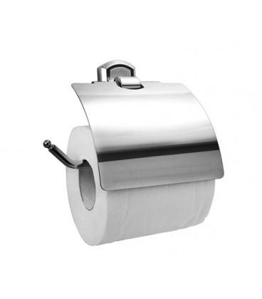 Держатель туалетной бумаги с крышкой WasserKRAFT хром K-3025