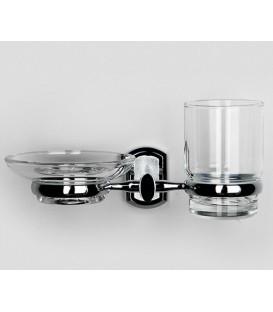 Держатель стакана и мыльницы WasserKRAFT хром K-3026