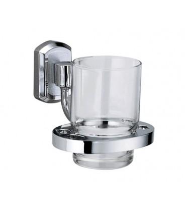 Подстаканник стеклянный WasserKRAFT хром K-3028