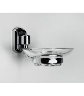 Мыльница стеклянная WasserKRAFT хром K-3029