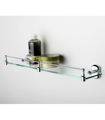 Полка стеклянная с бортиком WasserKRAFT хром K-3044