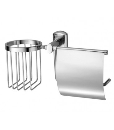 Держатель туалетной бумаги и освежителя WasserKRAFT хром K-3059