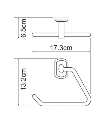 Держатель полотенец треугольник WasserKRAFT хром K-3061