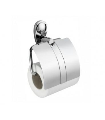 Держатель туалетной бумаги с крышкой WasserKRAFT хром K-9225