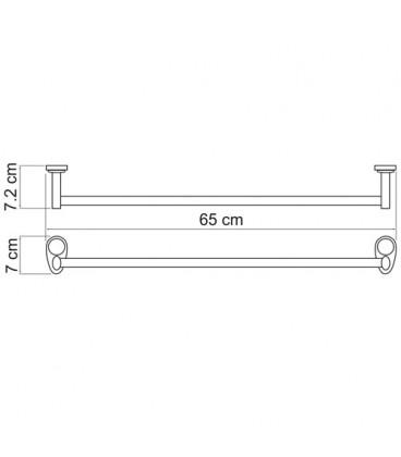 Штанга для полотенец WasserKRAFT хром K-9230