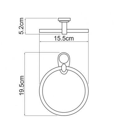 Держатель полотенец кольцо WasserKRAFT хром K-9260