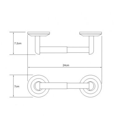 Держатель туалетной бумаги WasserKRAFT хром K-6222