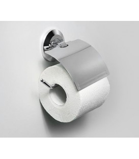 Держатель туалетной бумаги с крышкой WasserKRAFT хром K-6225