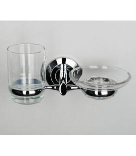Держатель стакана и мыльницы WasserKRAFT хром K-6226
