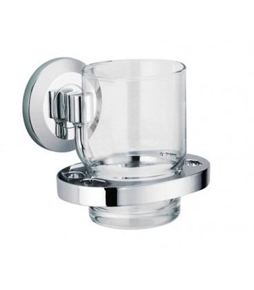 Подстаканник стеклянный WasserKRAFT хром K-6228