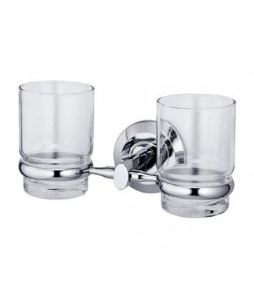 Подстаканник двойной стеклянный WasserKRAFT хром K-6228D