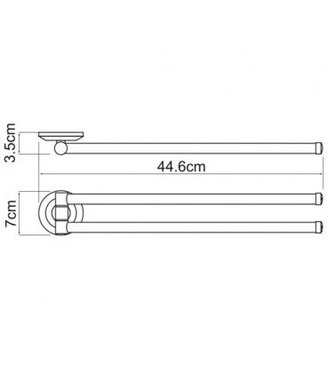 Держатель полотенец рога WasserKRAFT хром K-6231