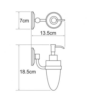 Дозатор для жидкого мыла 160 мл WasserKRAFT хром K-6299