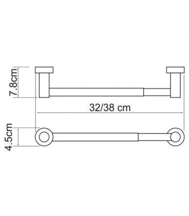 Держатель бумажных полотенец WasserKRAFT хром K-9422, 32 см