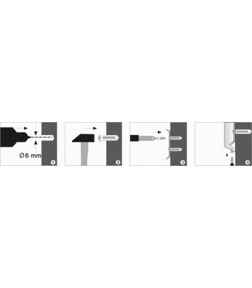 Крючок двойной WasserKRAFT хром K-9423