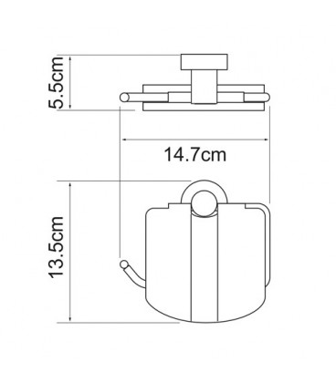 Держатель туалетной бумаги с крышкой WasserKRAFT хром K-9425