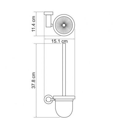 Щетка для унитаза WasserKRAFT хром K-9427