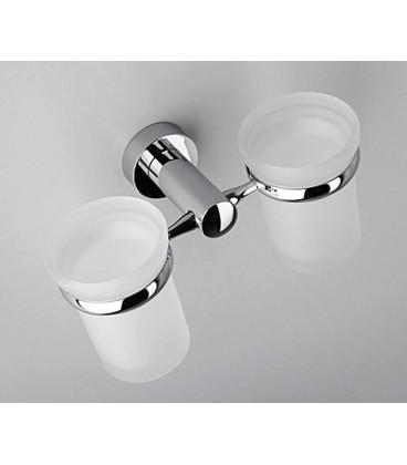 Подстаканник двойной стеклянный WasserKRAFT хром K-9428D
