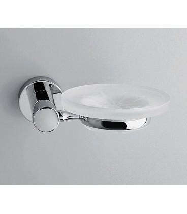 Мыльница стеклянная WasserKRAFT хром K-9429