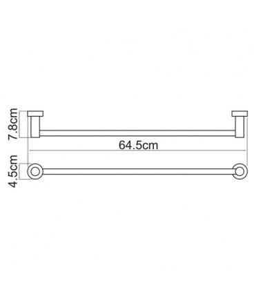 Штанга для полотенец WasserKRAFT хром K-9430
