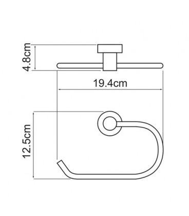 Держатель полотенец кольцо WasserKRAFT хром K-9460